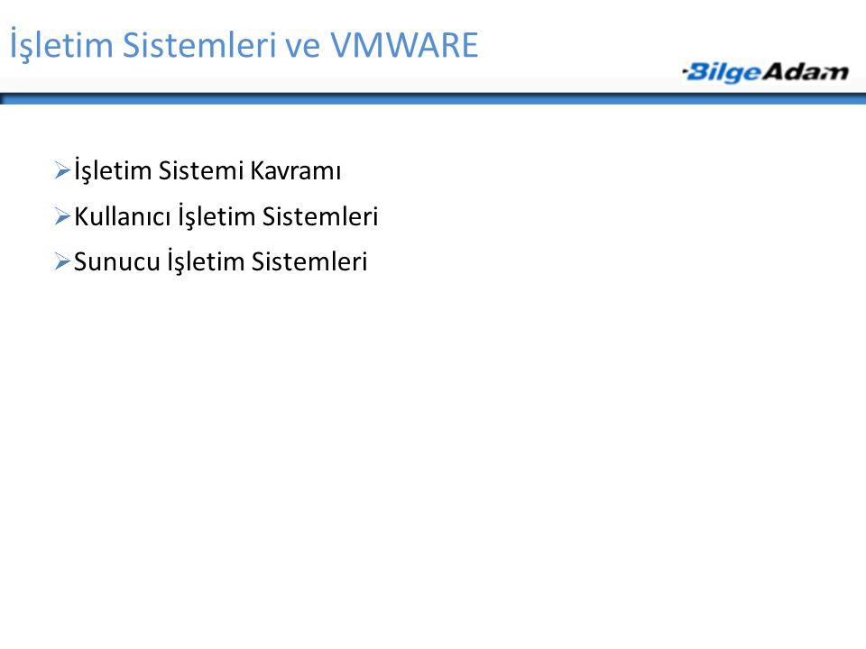 İşletim Sistemleri ve VMWARE