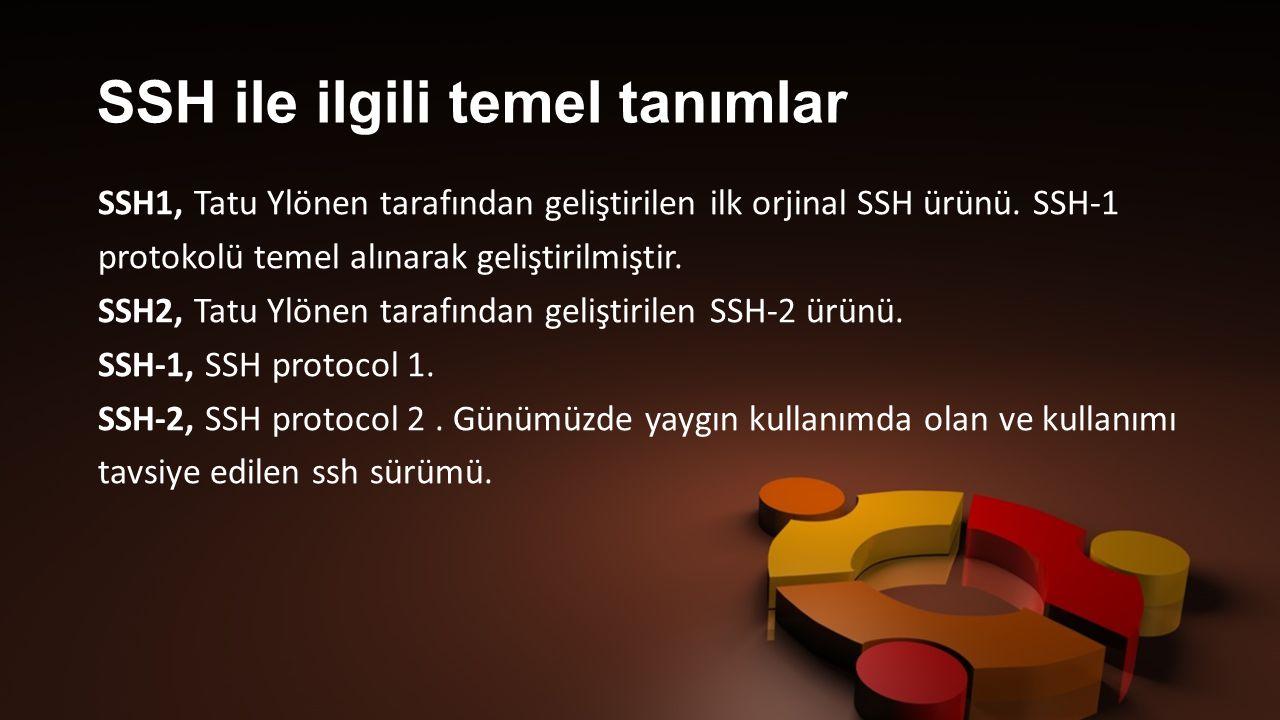 SSH ile ilgili temel tanımlar