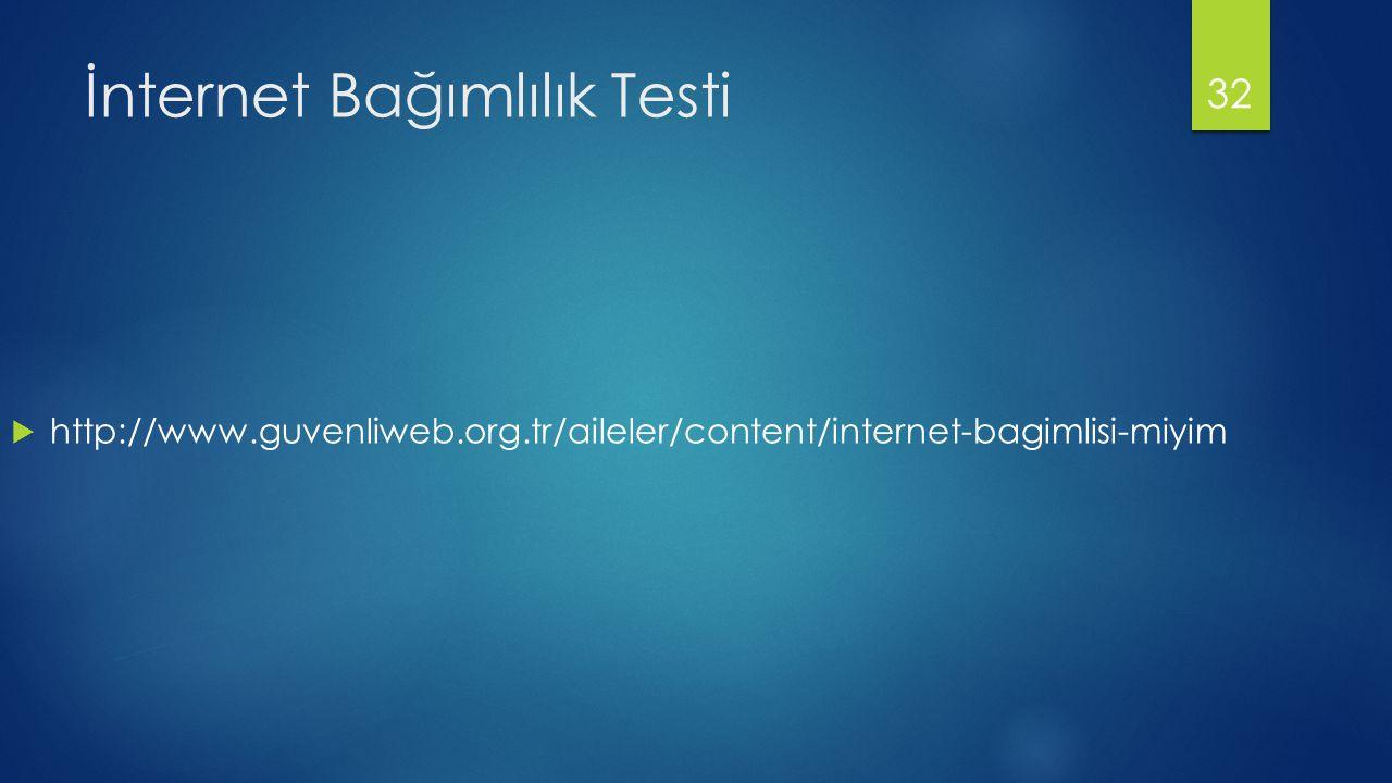 İnternet Bağımlılık Testi