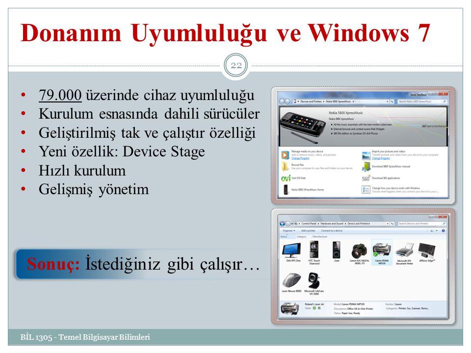 Donanım Uyumluluğu ve Windows 7