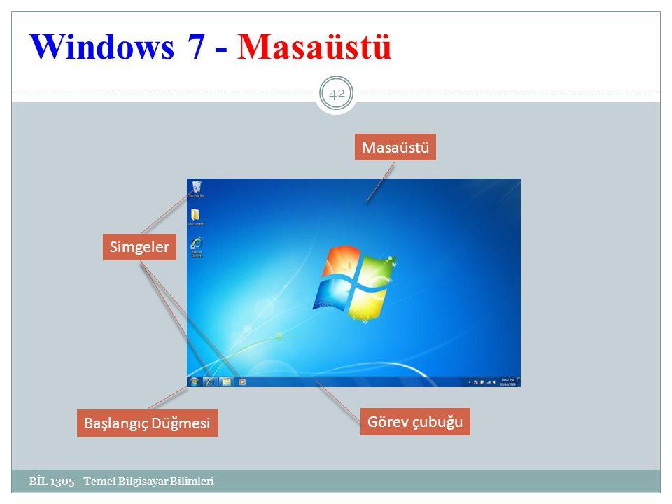 Windows 7 - Masaüstü Masaüstü Simgeler Başlangıç Düğmesi Görev çubuğu