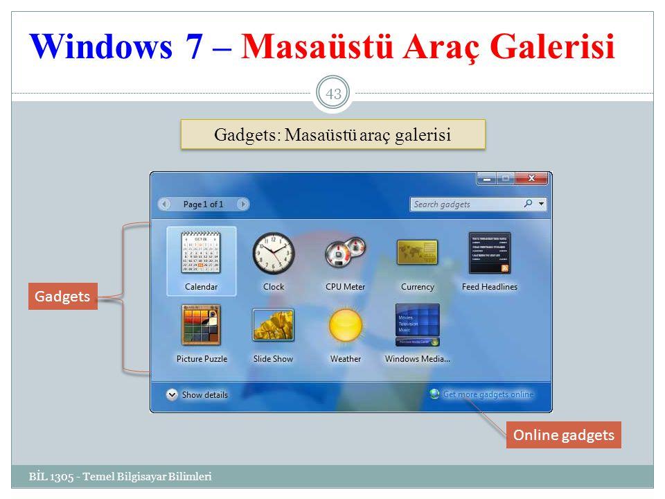 Windows 7 – Masaüstü Araç Galerisi
