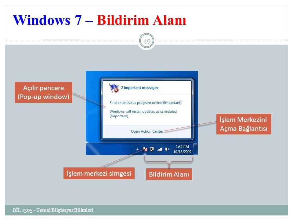 Windows 7 – Bildirim Alanı