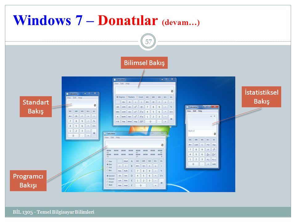 Windows 7 – Donatılar (devam…)