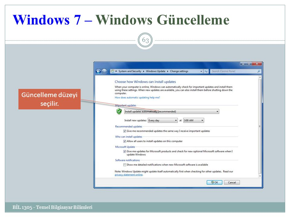 Windows 7 – Windows Güncelleme