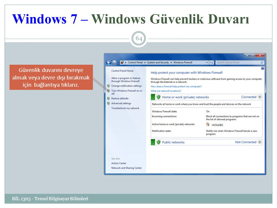 Windows 7 – Windows Güvenlik Duvarı