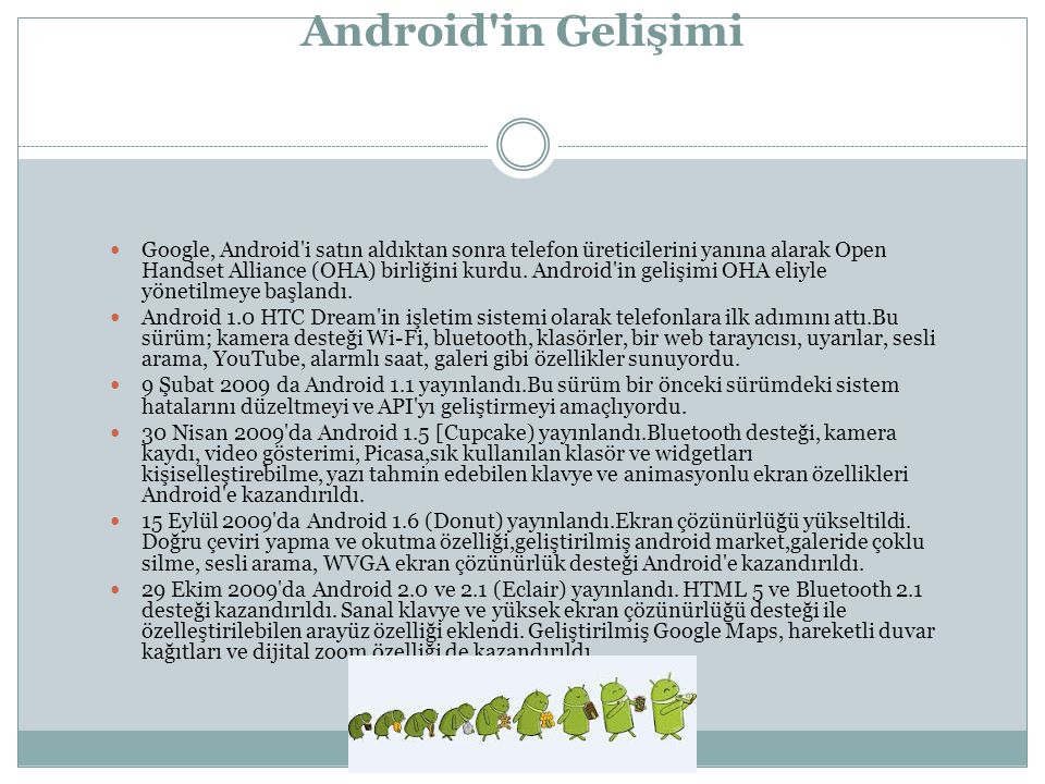 Android in Gelişimi