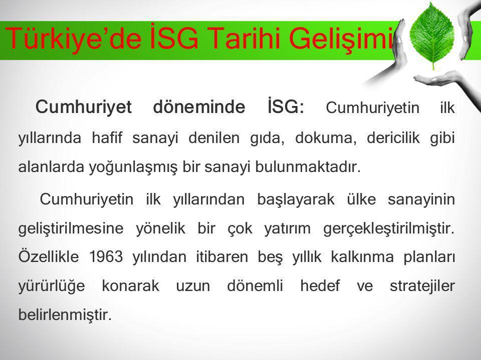 Türkiye'de İSG Tarihi Gelişimi