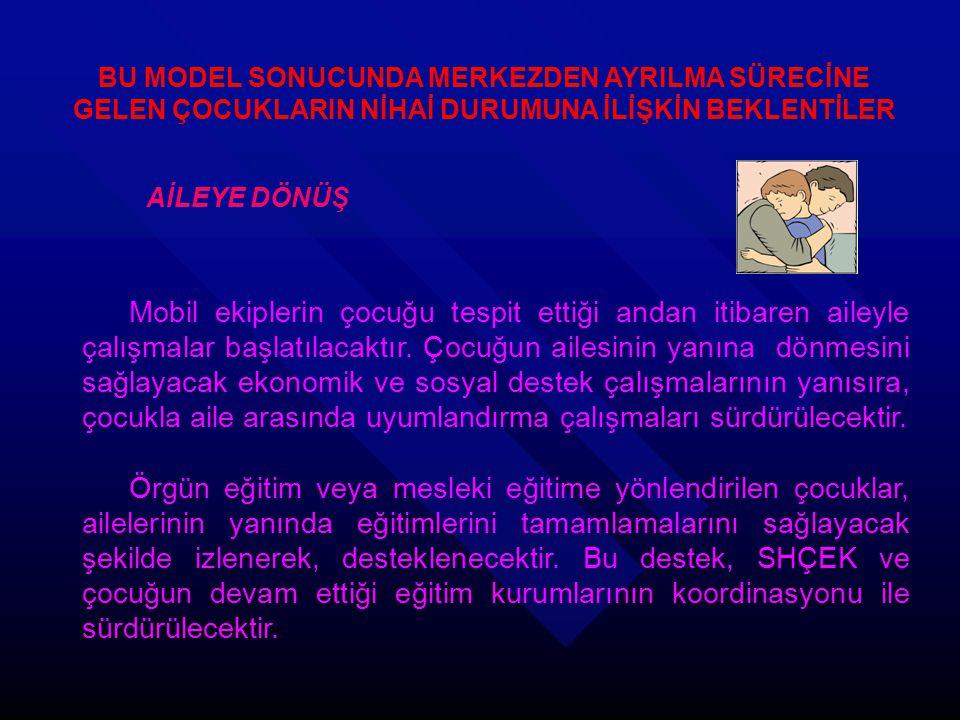 BU MODEL SONUCUNDA MERKEZDEN AYRILMA SÜRECİNE