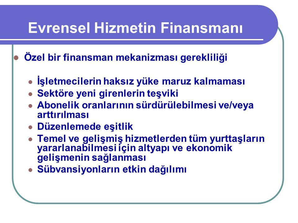 Evrensel Hizmetin Finansmanı