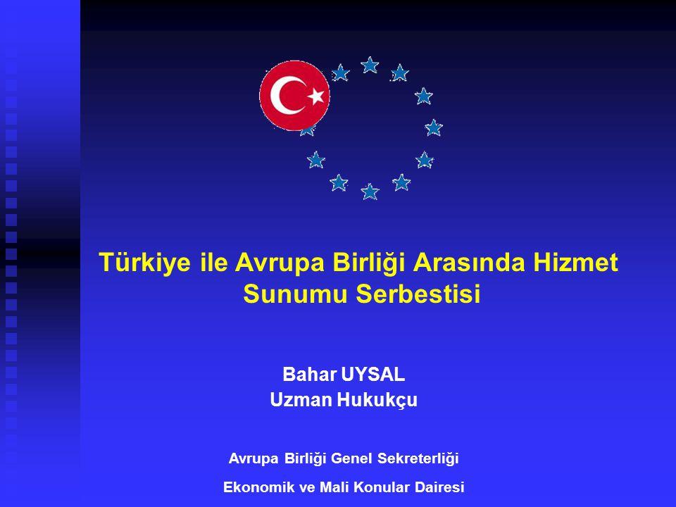 Türkiye ile Avrupa Birliği Arasında Hizmet Sunumu Serbestisi
