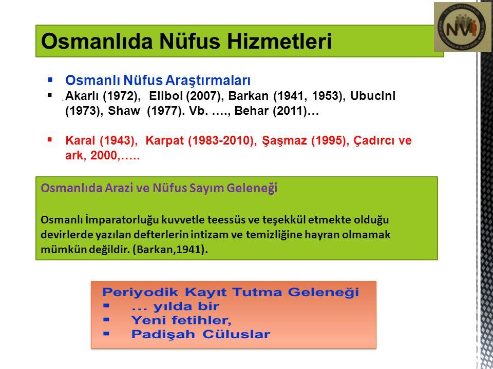 Osmanlıda Nüfus Hizmetleri