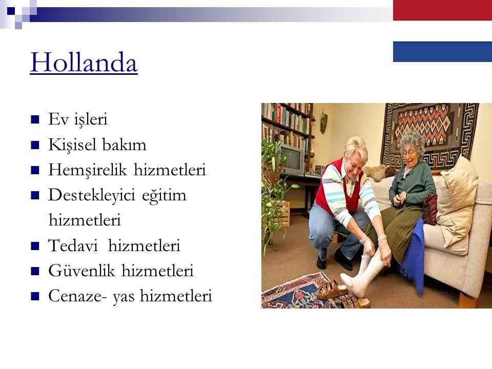 Hollanda Ev işleri Kişisel bakım Hemşirelik hizmetleri