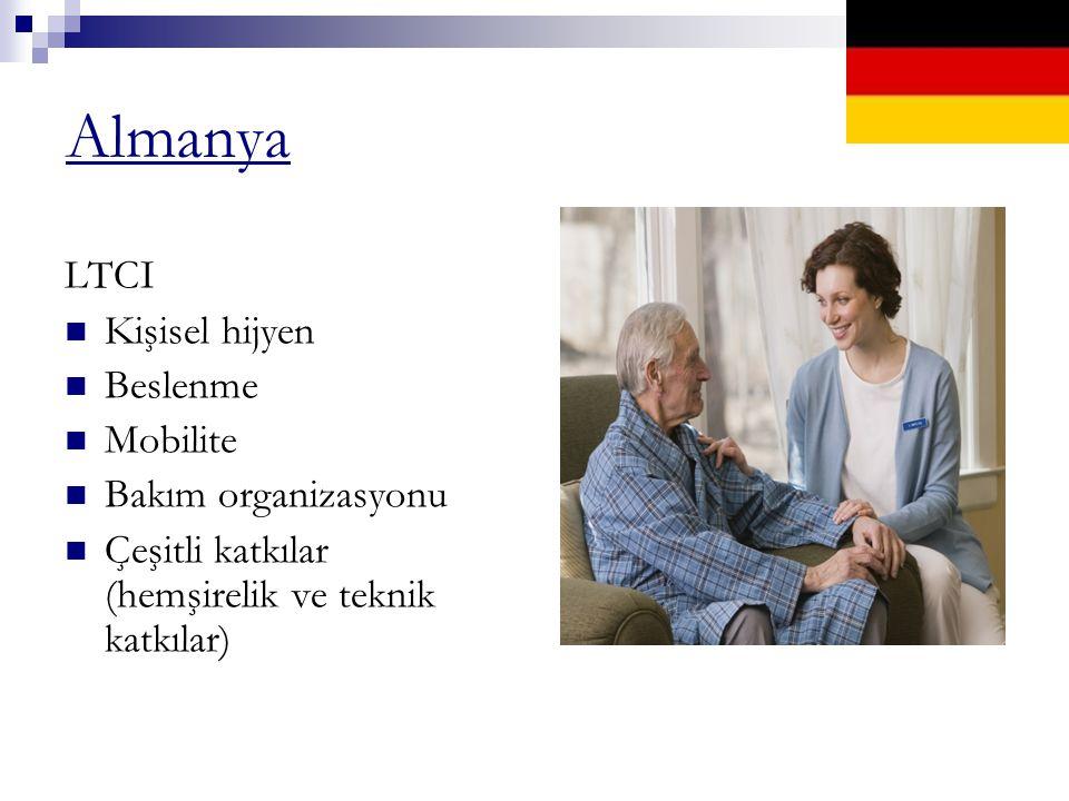 Almanya LTCI Kişisel hijyen Beslenme Mobilite Bakım organizasyonu