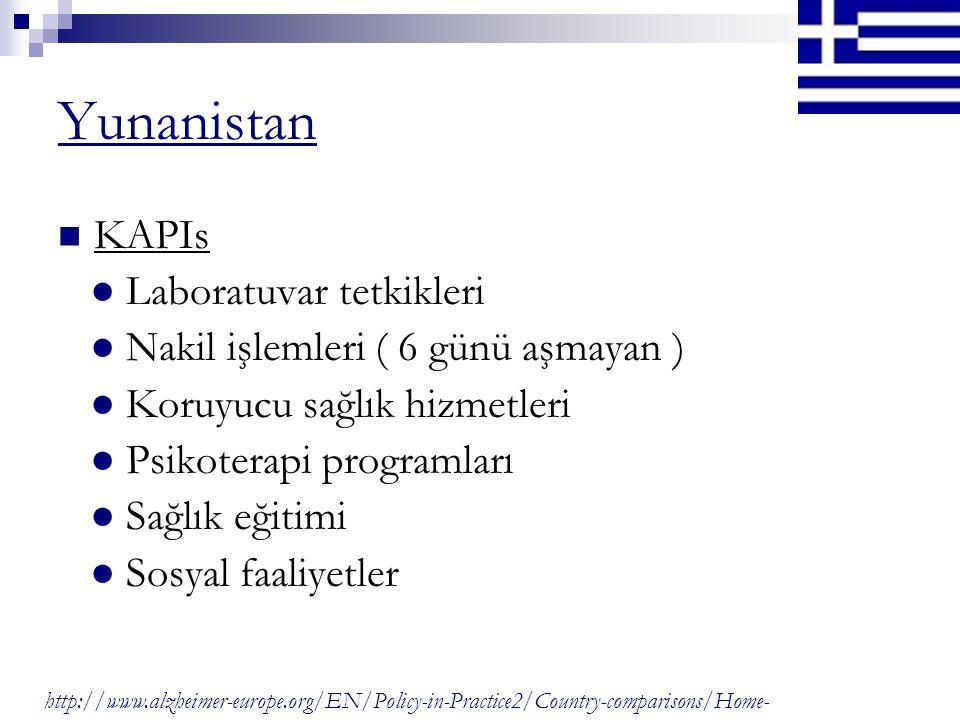 Yunanistan KAPIs ● Laboratuvar tetkikleri