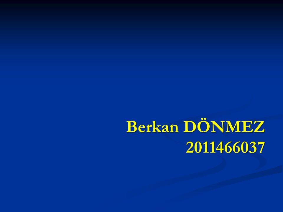 Berkan DÖNMEZ 2011466037