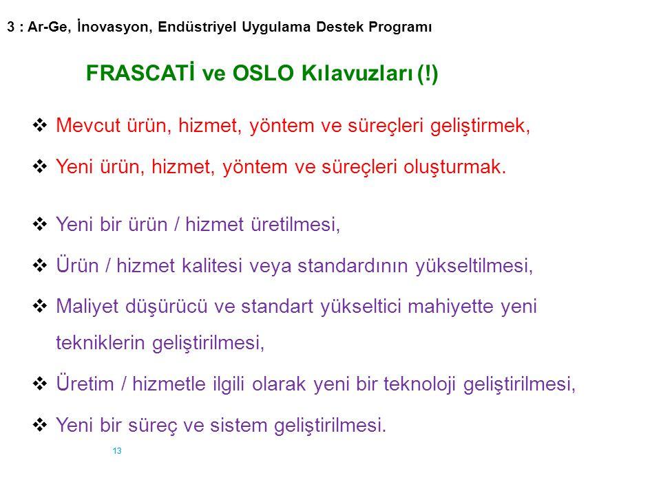 FRASCATİ ve OSLO Kılavuzları (!)