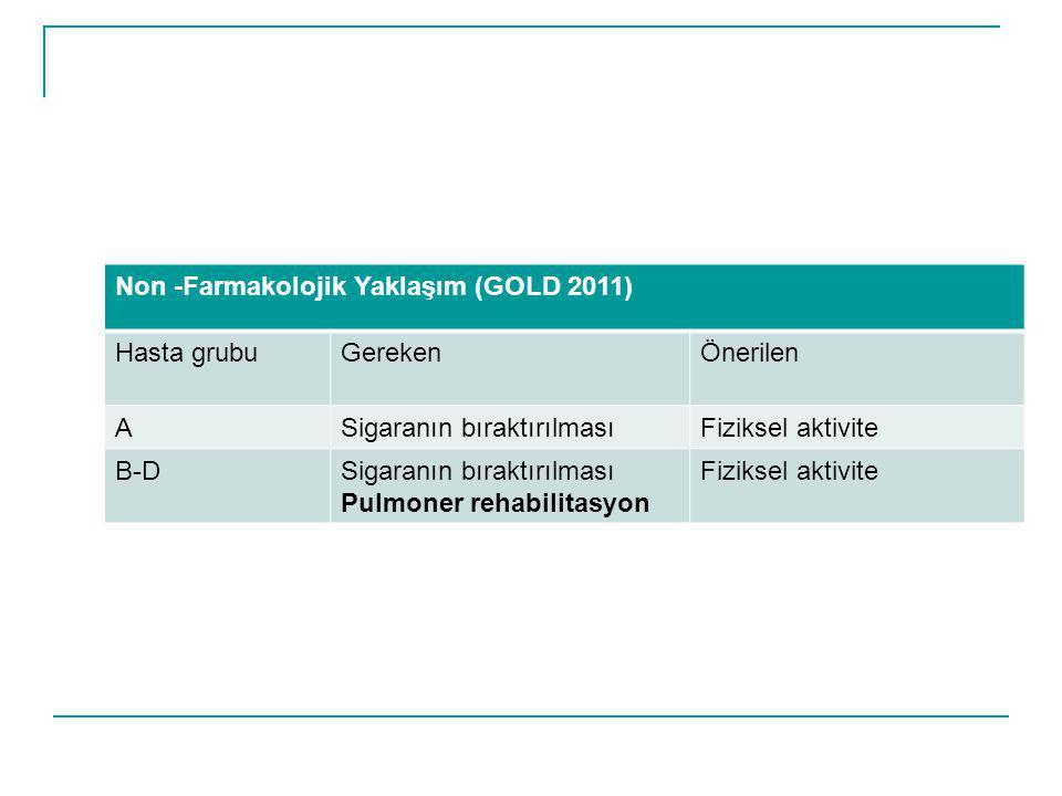 Non -Farmakolojik Yaklaşım (GOLD 2011)
