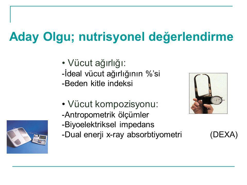 Aday Olgu; nutrisyonel değerlendirme