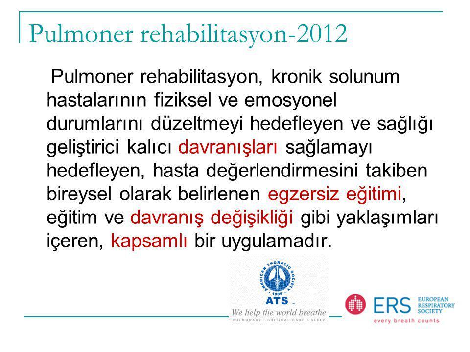 Pulmoner rehabilitasyon-2012