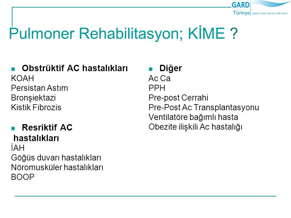 Pulmoner Rehabilitasyon; KİME