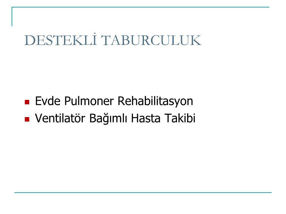 DESTEKLİ TABURCULUK Evde Pulmoner Rehabilitasyon