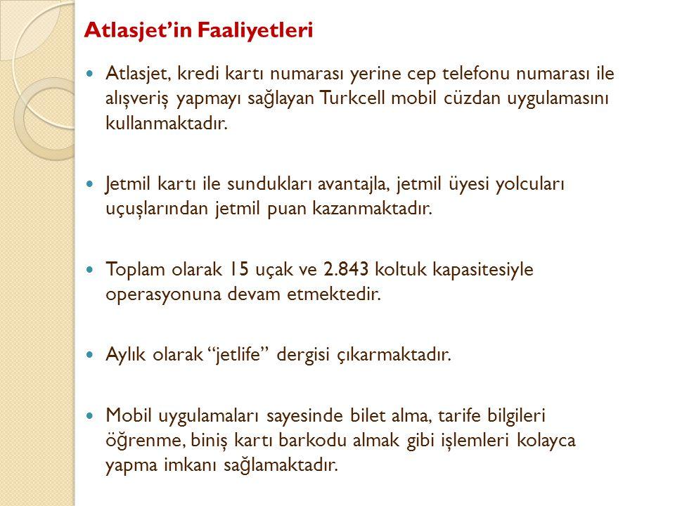 Atlasjet'in Faaliyetleri