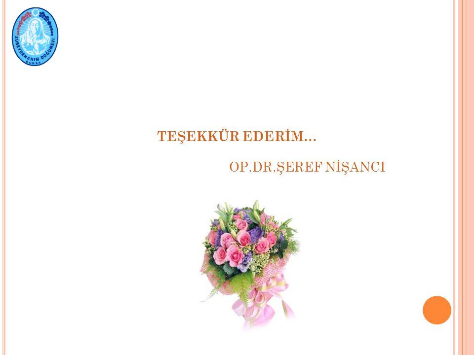 TEŞEKKÜR EDERİM… OP.DR.ŞEREF NİŞANCI