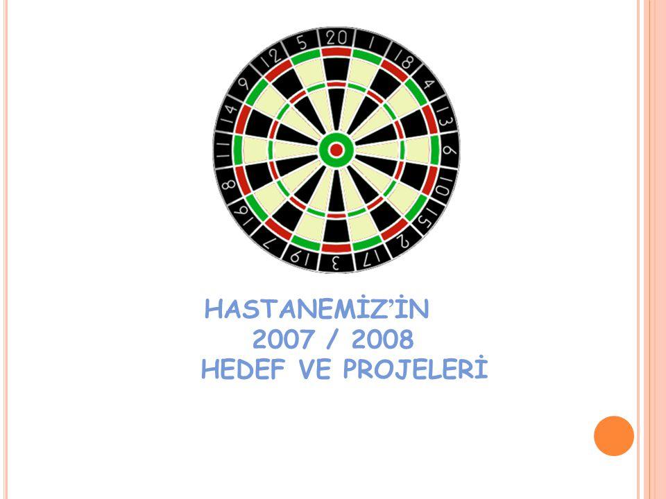 HASTANEMİZ'İN 2007 / 2008 HEDEF VE PROJELERİ