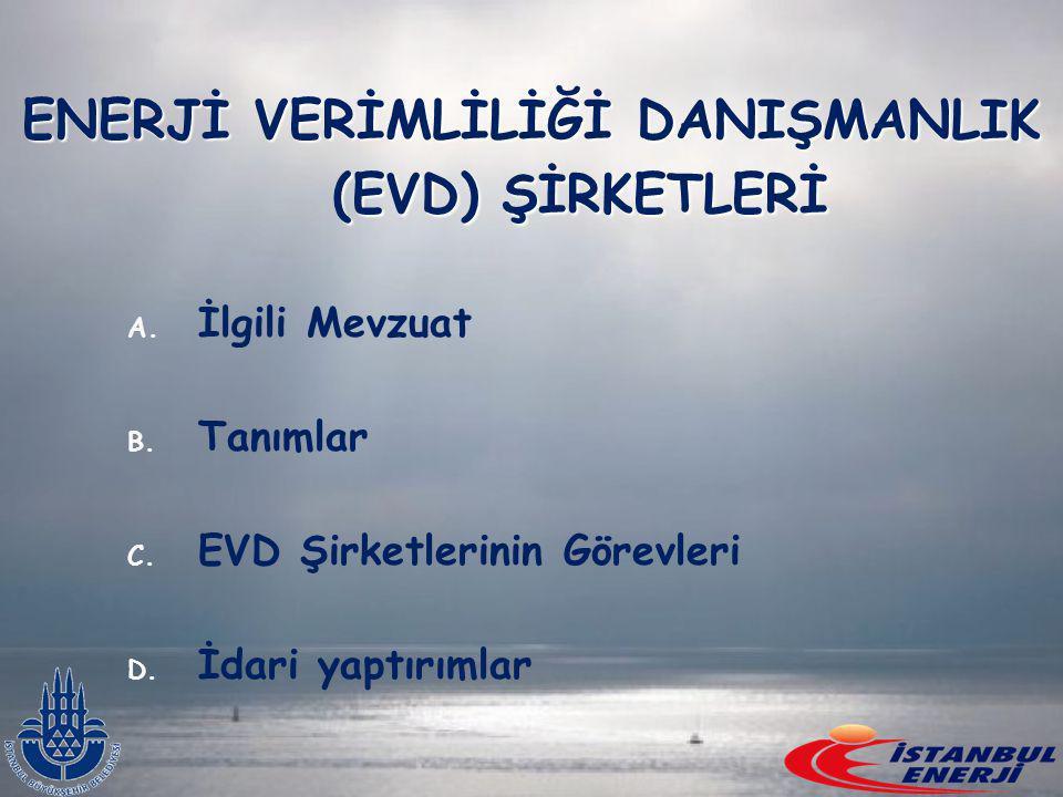 ENERJİ VERİMLİLİĞİ DANIŞMANLIK (EVD) ŞİRKETLERİ