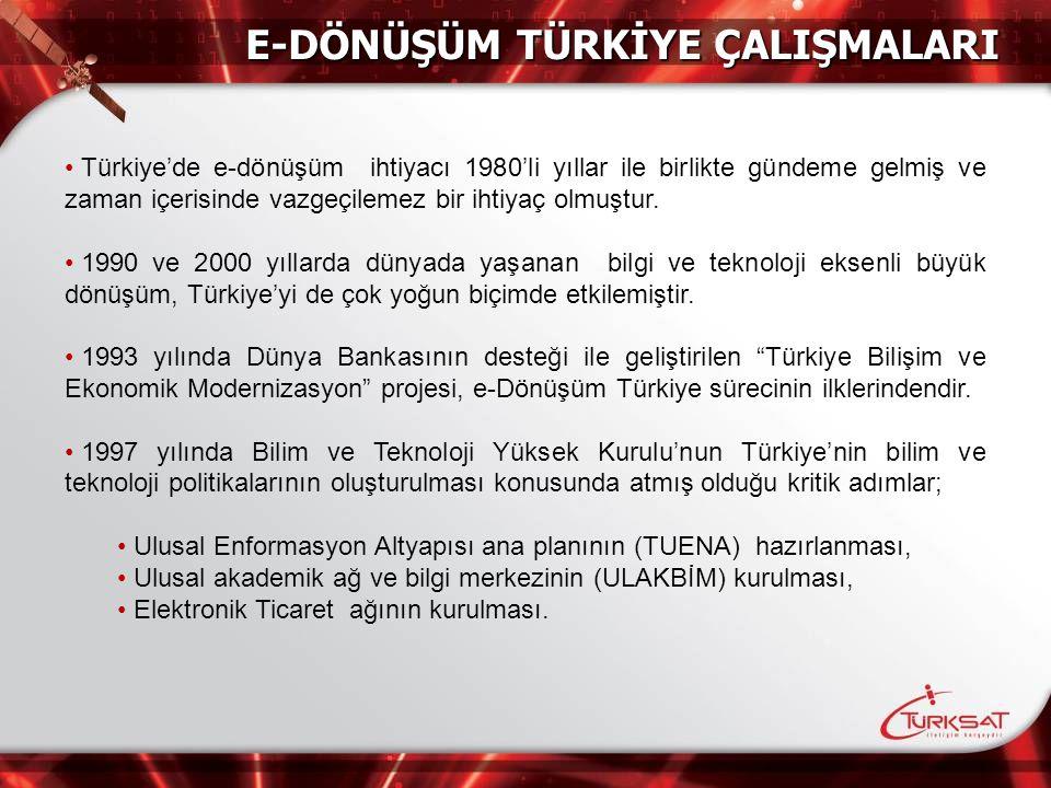 E-Dönüşüm Türkİye ÇalIşmalarI