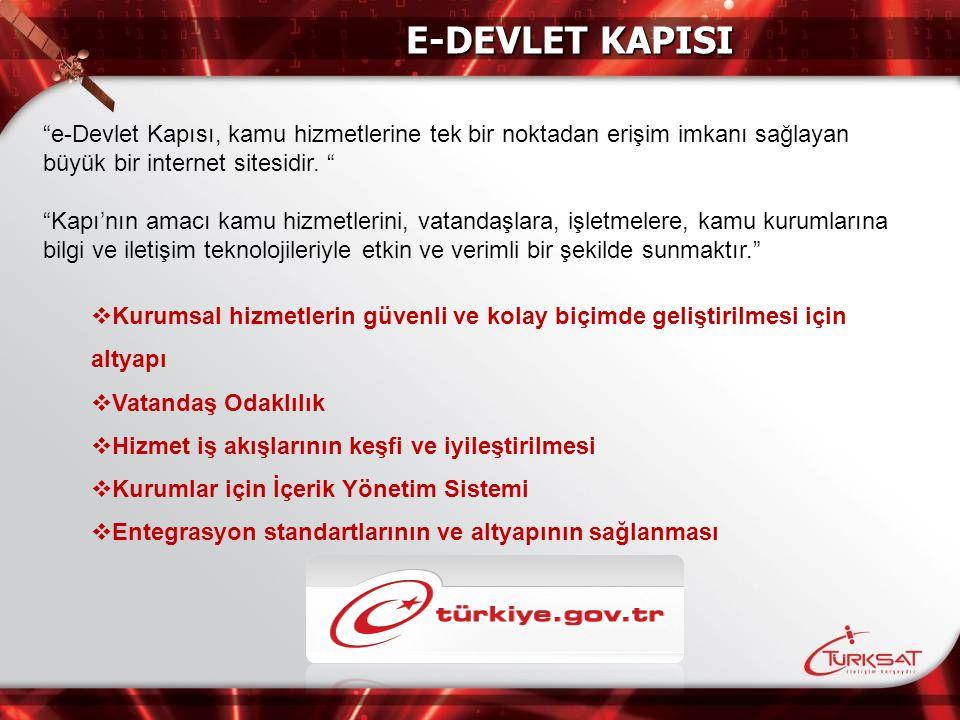 E-DEVLET KAPISI e-Devlet Kapısı, kamu hizmetlerine tek bir noktadan erişim imkanı sağlayan büyük bir internet sitesidir.