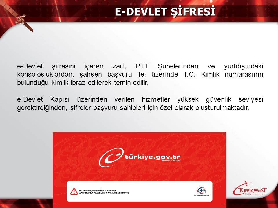 E-DEVLET ŞİFRESİ