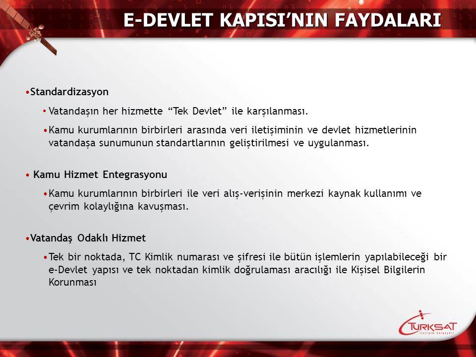 E-DEVLET KAPISI'NIN FAYDALARI