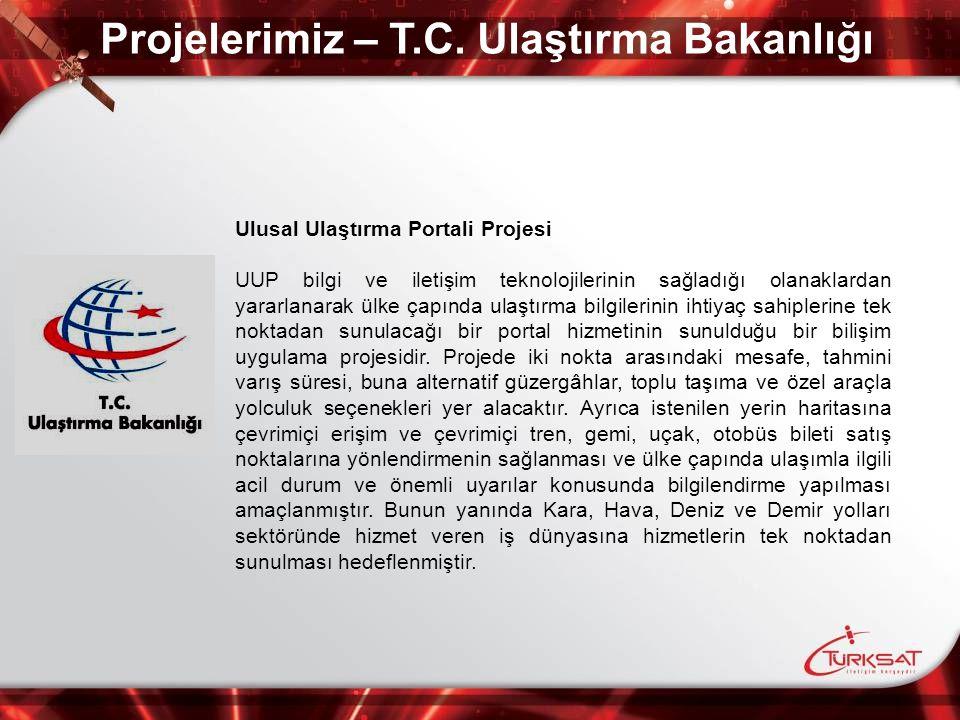 Projelerimiz – T.C. Ulaştırma Bakanlığı