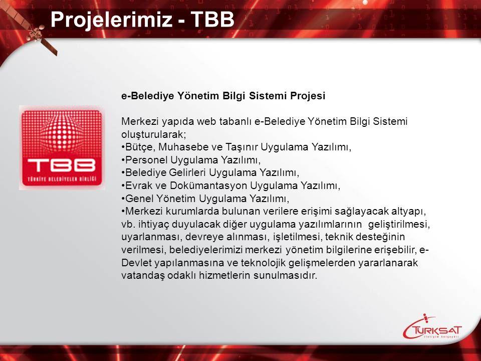 Projelerimiz - TBB e-Belediye Yönetim Bilgi Sistemi Projesi