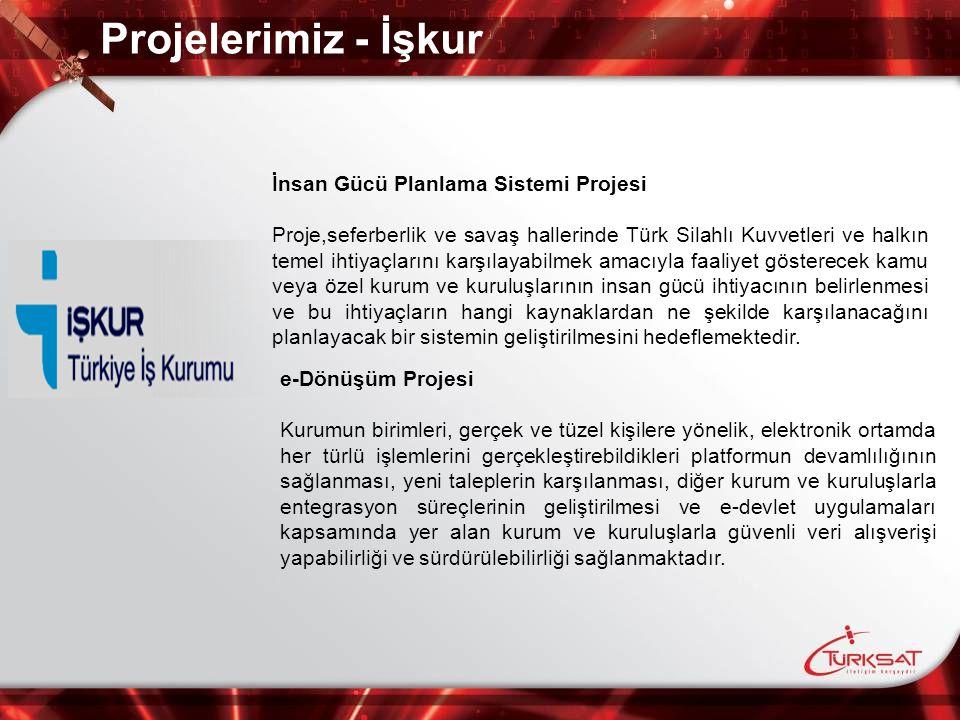 Projelerimiz - İşkur İnsan Gücü Planlama Sistemi Projesi