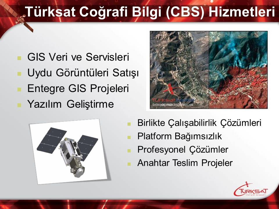 Türksat Coğrafi Bilgi (CBS) Hizmetleri