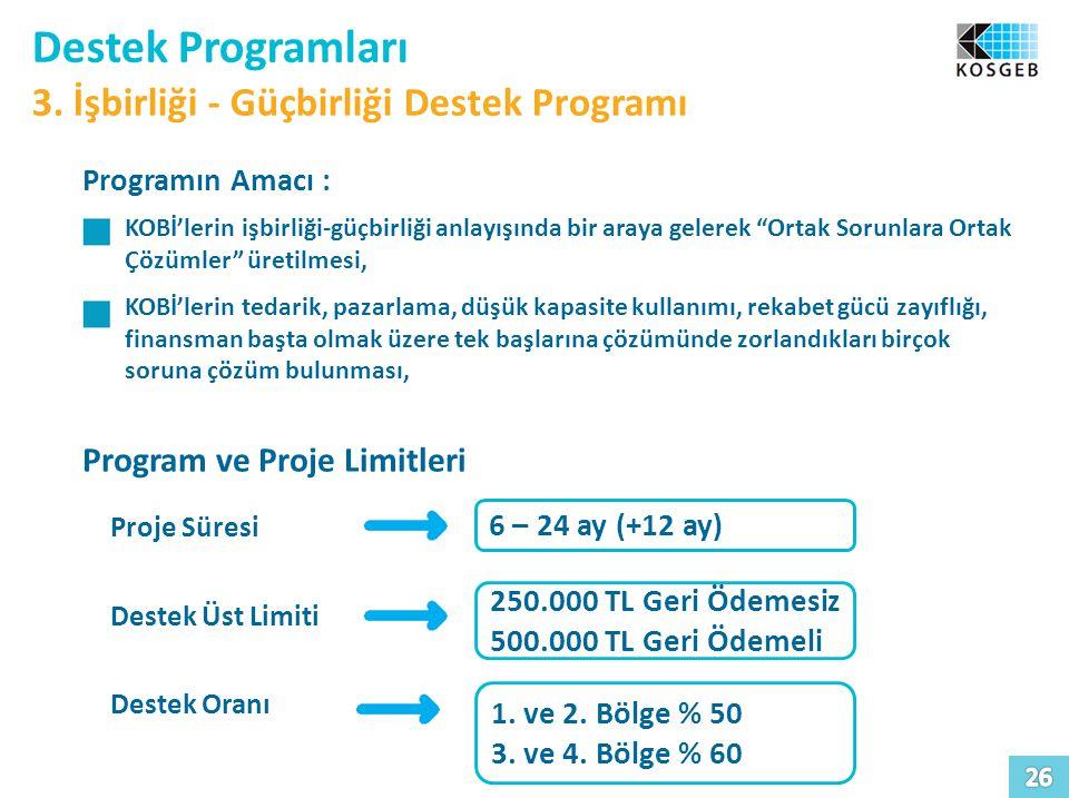 Destek Programları 3. İşbirliği - Güçbirliği Destek Programı