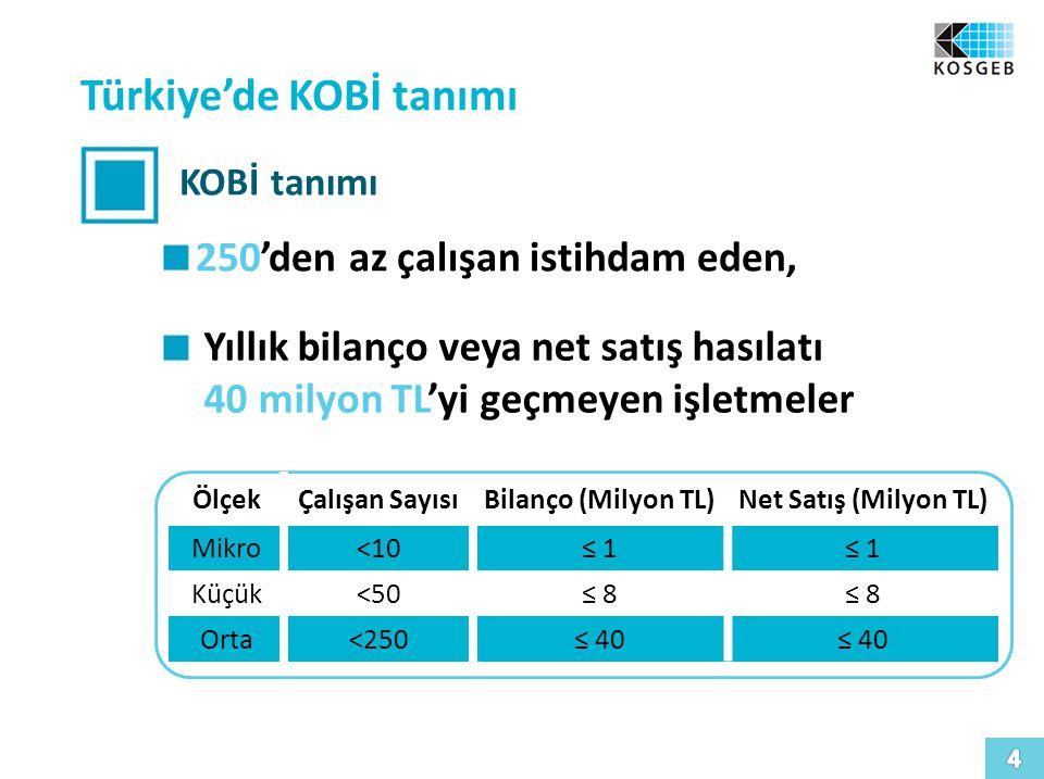 Türkiye'de KOBİ tanımı