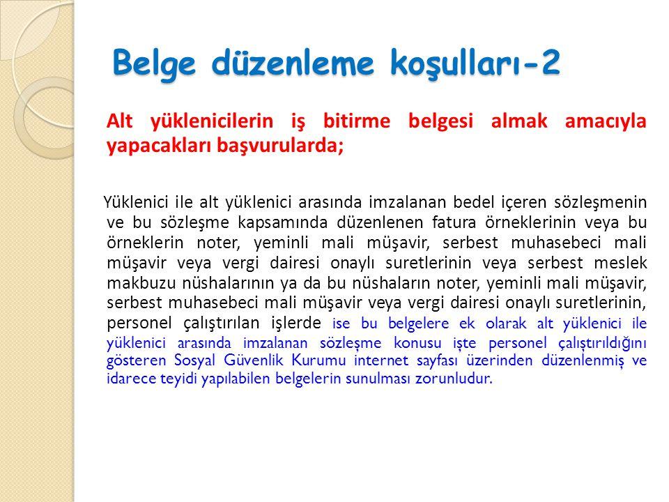 Belge düzenleme koşulları-2