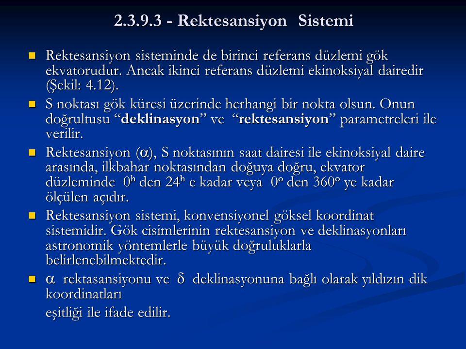 2.3.9.3 - Rektesansiyon Sistemi