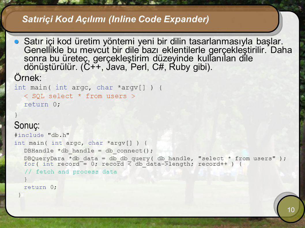 Satıriçi Kod Açılımı (Inline Code Expander)