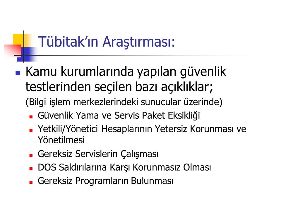 Tübitak'ın Araştırması: