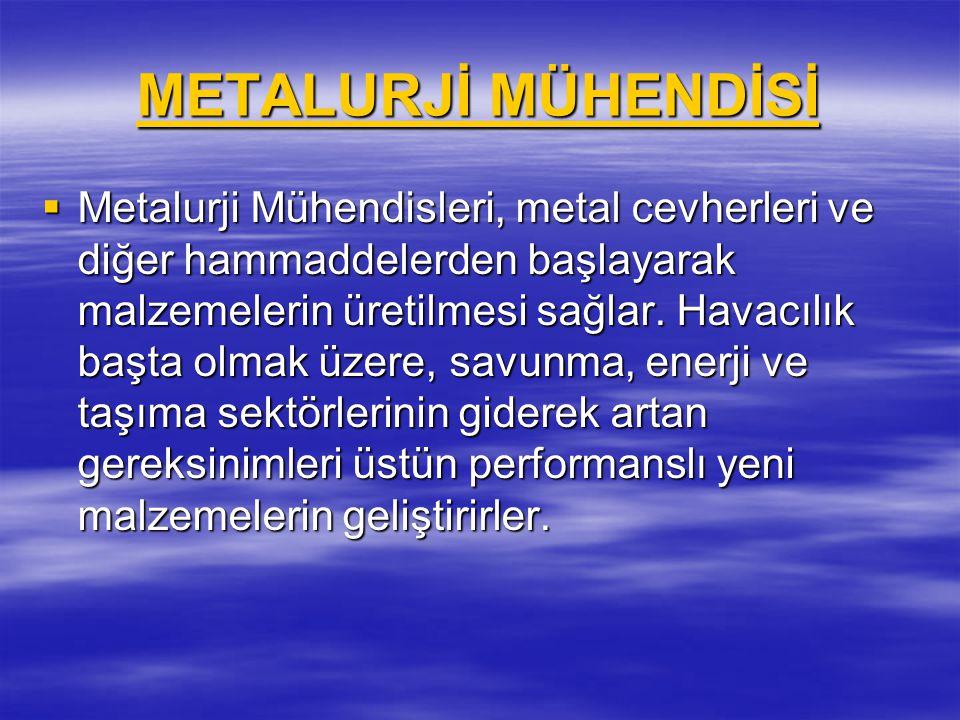 METALURJİ MÜHENDİSİ
