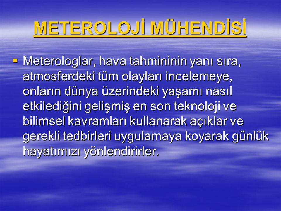 METEROLOJİ MÜHENDİSİ