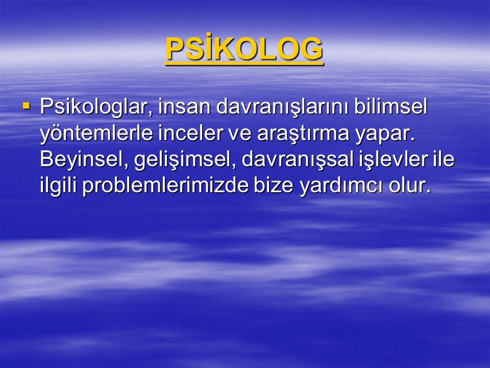 PSİKOLOG