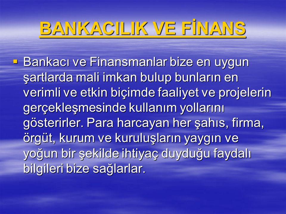 BANKACILIK VE FİNANS