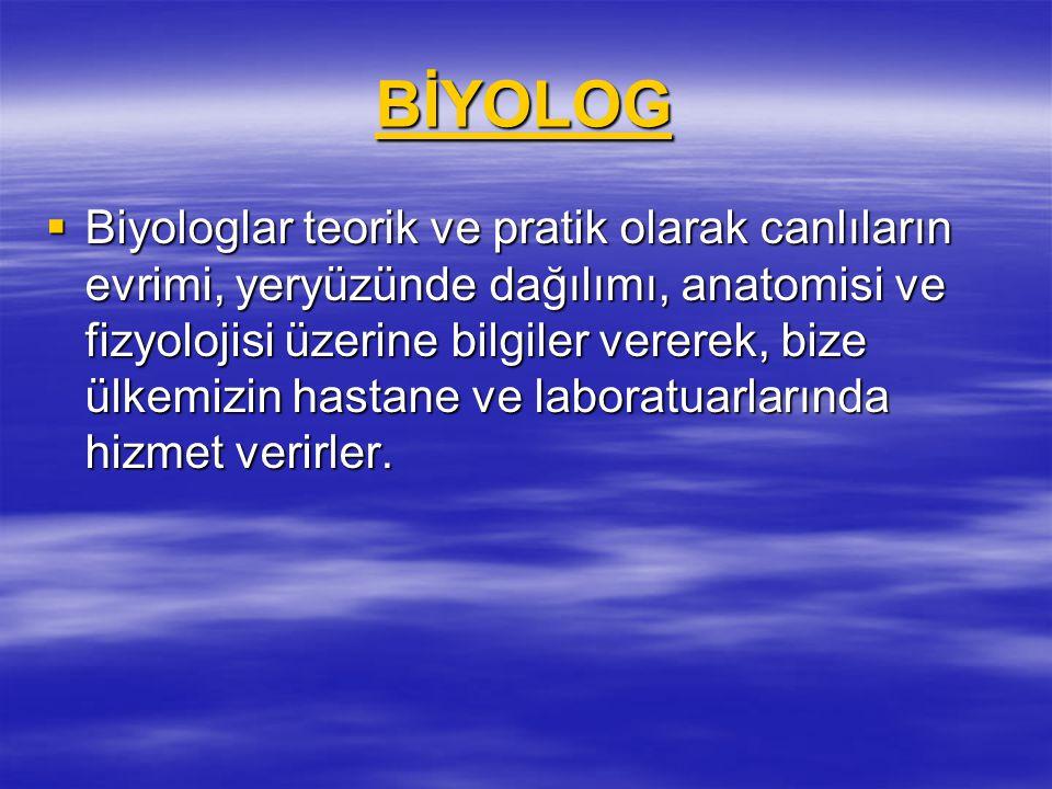 BİYOLOG