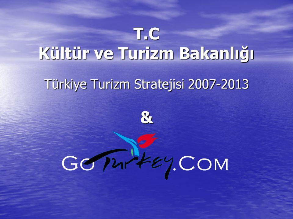 T.C Kültür ve Turizm Bakanlığı Türkiye Turizm Stratejisi 2007-2013 &